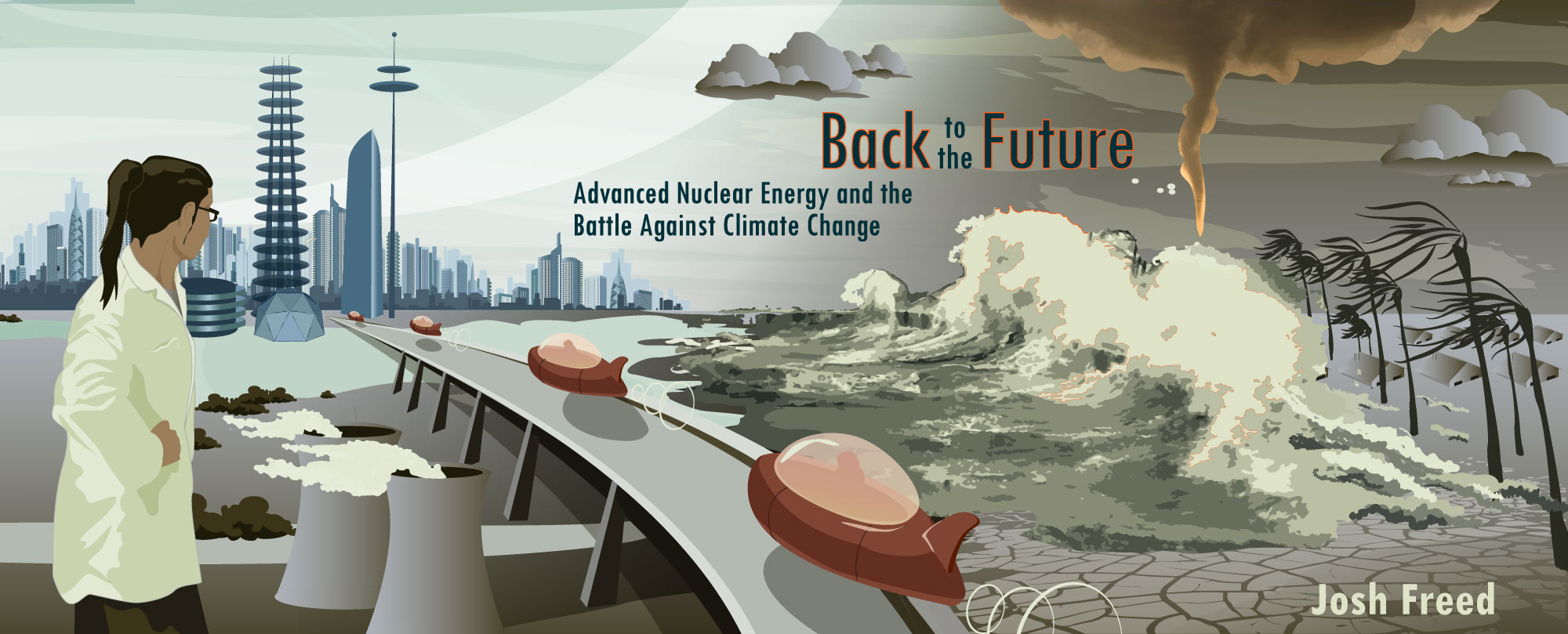 back to the future advanced nuclear energy and the battle against  newspaper reader on train
