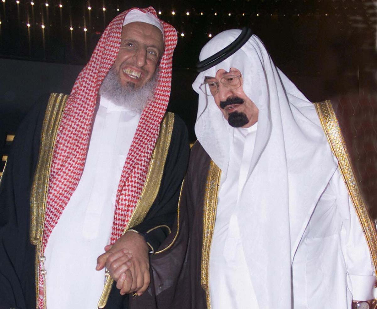 The Late King Abdullah (right) And The Grand Mufti Sheikh Abdul Aziz Al