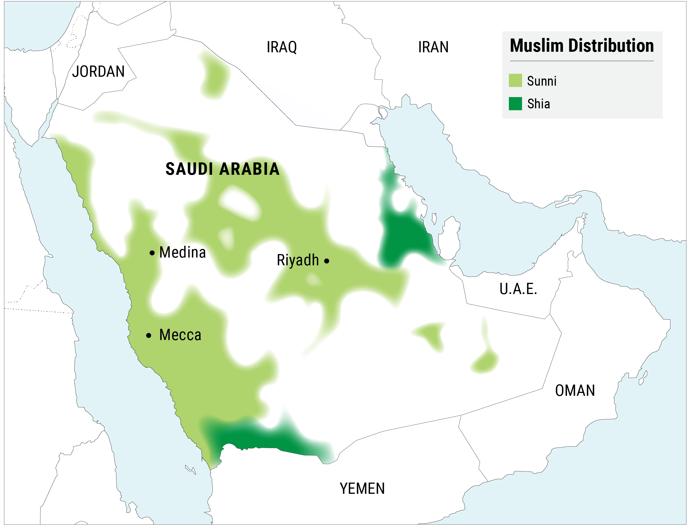 Saudi Arabia Is 85–90% Sunni And 10–15% Shia The